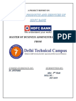 PROJECT REPORT ON FINANCIAL PRODUCTS AND SERVICES OF HDFC BANK.docx