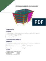 Cálculo de Irregularidades en Edificaciones