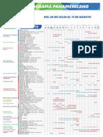 Cronograma de competencias de los Juegos Panamericanos Lima 2019