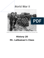 World War II Unit Outline