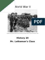 World War II Unit Outline