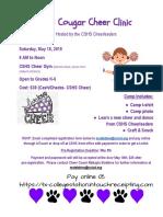 mini cougar cheer clinic flyer
