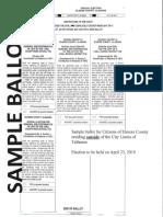 Sample Ballot April 23 2019 Election
