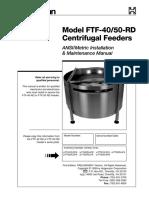 Ftf 40 Food Grade Centrifugal Feeder Installation Maintenance Manual