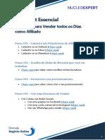 Check List - Essencial - 5 Passos Para Vender Todos Os Dias Como Afiliado
