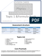 Physics a Formula Book