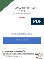 SESION 5 - LENGUAJE DE BAJO NIVEL - SISTEMAS NUMERICOS 1.pdf