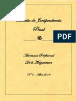 Boletín Jurisprudencia Penal Nº 0 Abril 2016