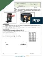 Devoir de Synthèse N°3 - Technologie serrure électrique - 1ère AS  (2012-2013) Mr BAAZAOUI Raouf