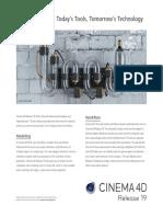 Cinema 4D New in R19 Flyer en Online Usage
