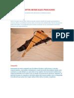 Los Instrumentos Musicales Peruanos