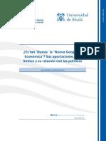 Nueva Geografia Economica- Aportes Limites y Relaciones