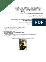 A Expansão Árabe Na África e Os Impérios Negros de Gana, Mali e Songai (Sécs. VII-XVI) _ Idade Média - Prof. Dr. Ricardo Da Costa