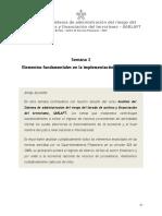 Semana 2 Elementos Fundamentales en La Implementación Del SARLAFT