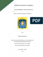 Ética en La Función Publica y Su Influencia en Los Delitos de Corrupción en El Perú