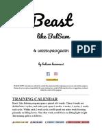 Beastlikebalsam - Muscle Building