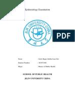 Epidemiology Examination.edited