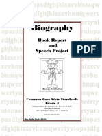 biography report packet