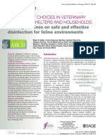 Disinfectant choices in Veterinaries - 2015