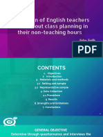 Perception of English Teachers in Cali About Class Planning in Their Non-teaching Hours