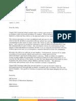 Chapel Hill Christian School statement