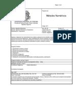 Programa analítico de Métodos Numéricos