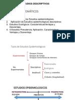 Estudios Descriptivos - Epidemiologia