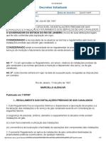 Decreto Estadual Gas Canalizado