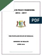 3 Puntland Health Policy Framework