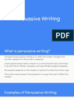 Persuasive Writing - Hickle