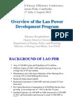 2. Mr.khamso Kouphokham - Overview of the Lao Power Development Program