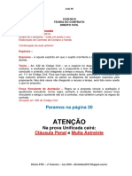 Anotações Aula 06 - Direito civil Teoria Do Contrato 12-09-2018