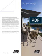 Folding Arm Awnings - Care & Cleaning