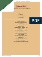 Viento - Octavio Paz