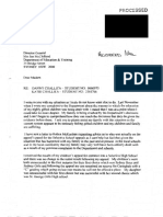 Letter to Director General Jan McClelland Dated 19 November 2002