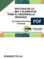 Perspectivas de la Economía y Elementos para el Desarrollo Regional