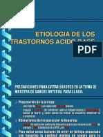 ETIOLOGIA DE LOS TRASTORNOS ACIDO BASE.ppt