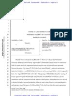 Nanoexa Corp v. Univ. of Chi. Patent