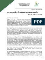 Resolución Jefatural de Sancion 1