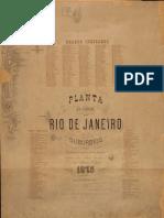 Planta Da Cidade Do Rio de Janeiro e Suburbios Antonio Jose Fausto Garriga 1875