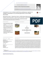Assessment of risk to human health from simultaneous exposure to multiple contaminants in an artisanal gold mine in Serra Pelada, Pará, Brazil