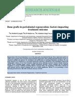 Bone Grafts in Periodontal Regeneration