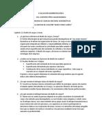 Evaluación Administración II