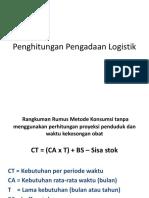 Perhitungan Pengadaan Logistik