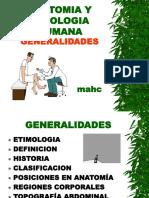 Anatomia y Fisiologia Humana - Generalidades