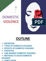 Domestic violence ppt