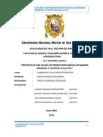 2018 - Proyecto de Planchas de Madera