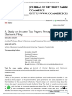 A Study on Income Tax Payers Perception Towards Electronic Filing _ Open Access Journals