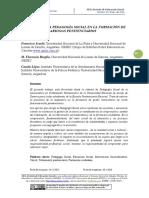 El aporte de la Pedagogía Social en la formación de los/as funcionarios/as penitenciarios