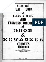 Atlas and Plat Book Door and Kewaunee County Wisconsin 1952